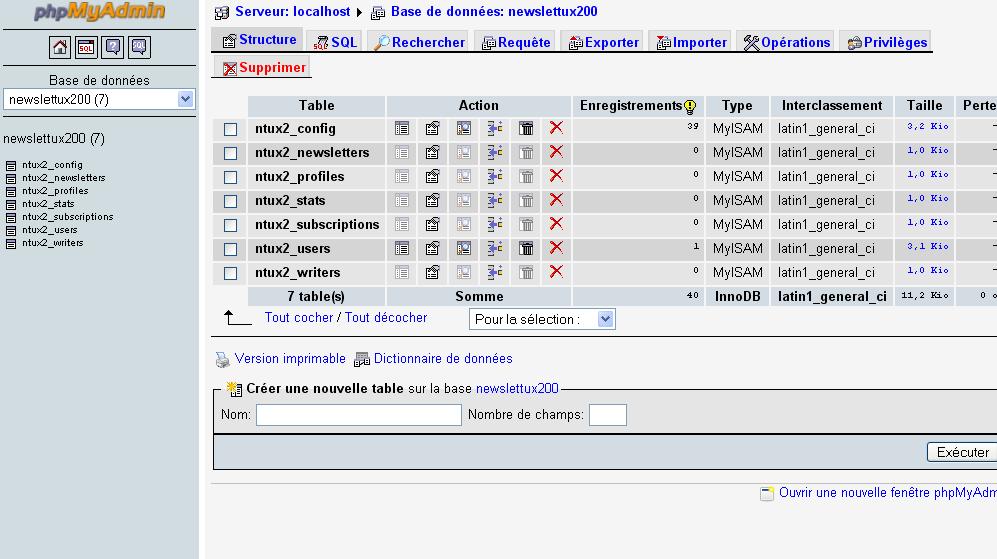 comment nettoyer une base de données mysql